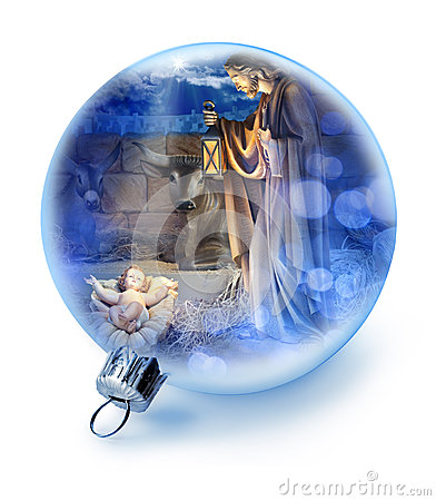 Free Christmas Nativity Scene Ornament Stock Photography - 34864352