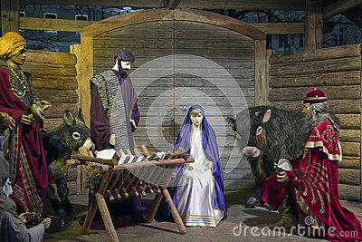 Christmas Nativity Scene Editorial Stock Photo