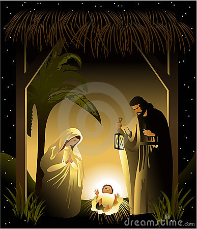 Free Christmas Nativity Scene With Holy Family Royalty Free Stock Photo - 16868345