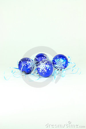 Christmas and New Year decoration in blue.