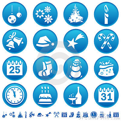 Free Christmas & New Year Icons Stock Images - 6882614