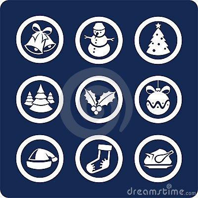 Christmas and New Year icons (set 1, part 2)