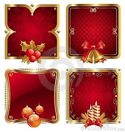 Christmas & new year s luxury golden frames