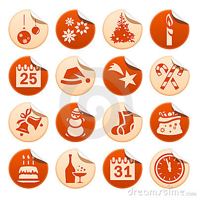Christmas & New Year stickers