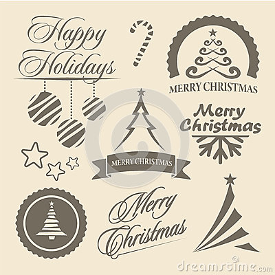 Christmas and New Year symbols and design elements