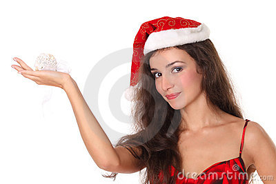Christmas or New Year woman