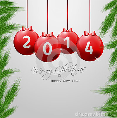 Christmas and New Year�s Eve Background