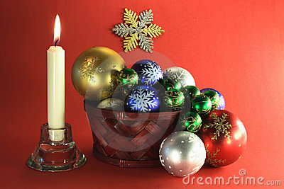 Christmas And New Years Eve Decoration Etude. Royalty Free Stock Image - Image: 12029786