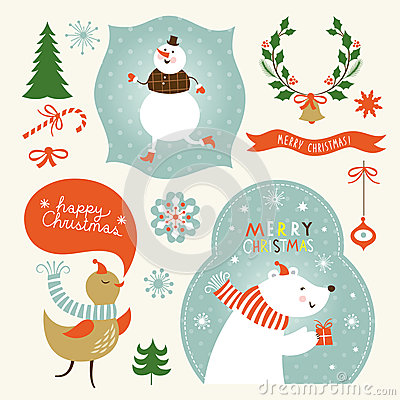 Christmas and New Years graphic elements