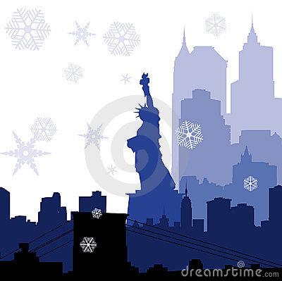 Christmas New York silhouettes