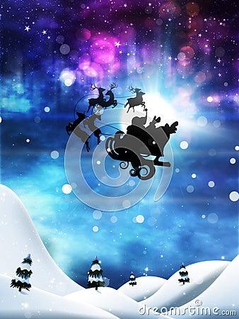 Free Christmas Night And Santa Royalty Free Stock Photos - 103180018