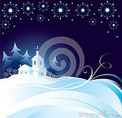 Free Christmas Night Background Royalty Free Stock Image - 3557026