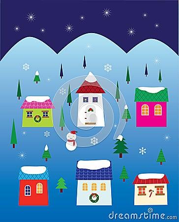 Christmas Night Neighbourhood