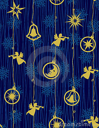 Christmas night - seamless pattern