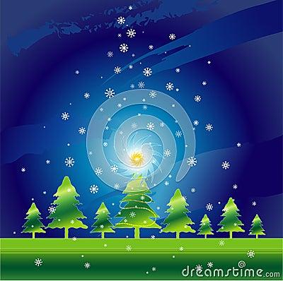 Christmas night,vector