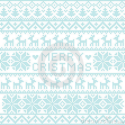 Christmas nordic pattern