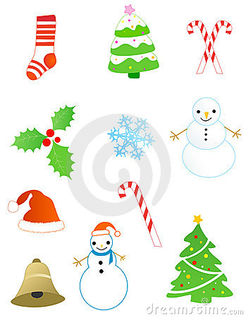 Christmas objects / elements