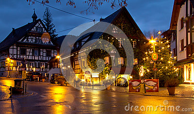 Christmas in Offenburg, Germany Editorial Stock Photo