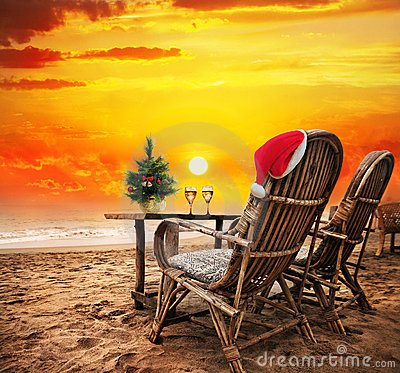 Free Christmas On The Beach Royalty Free Stock Photography - 22324967