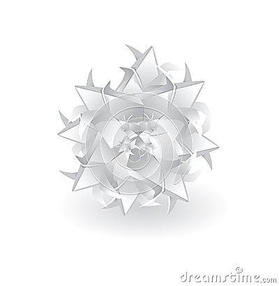 Christmas origami snowflake