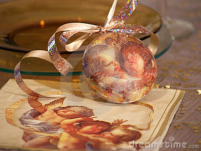 Christmas ornament with angels