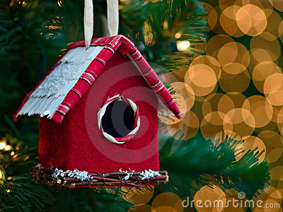 Christmas ornament - bird house