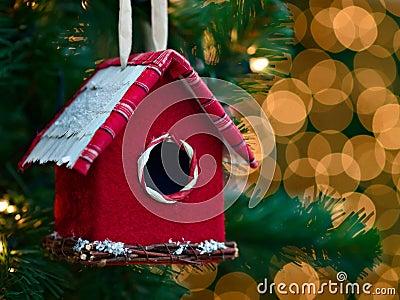 Christmas ornament - bird house