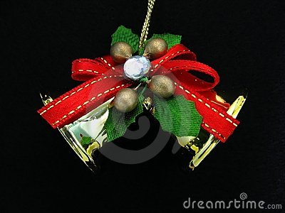 Christmas Ornament on Black Background