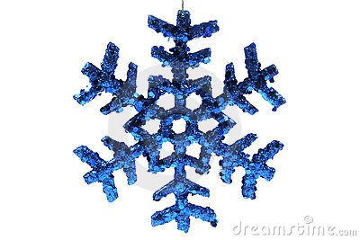 Christmas Ornament - Blue Snowflake