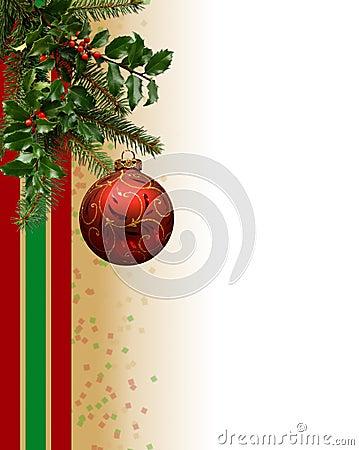 Christmas Ornament Border Stock Photo