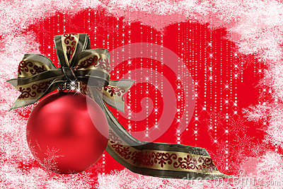 Christmas Ornament with Frosty Border