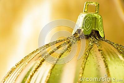 Christmas Ornament Gold Ball