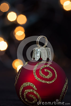 Christmas ornament and lights