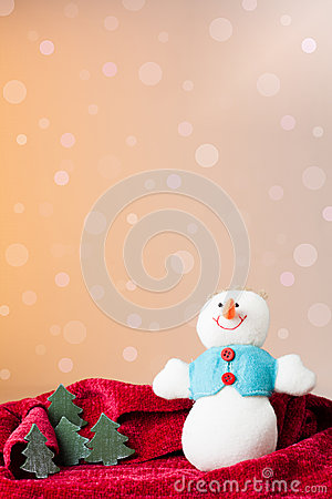 Christmas ornament: snowman toy and little trees