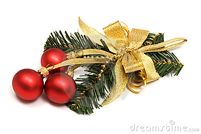 Christmas ornament with spheres