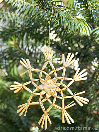 Christmas ornament straw star