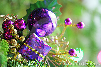 Christmas ornament in tree Stock Photo