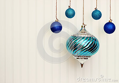 Christmas Ornaments On BeadBoard