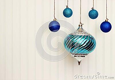 Christmas Ornaments On BeadBoard