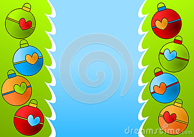 Christmas Ornaments Border Card