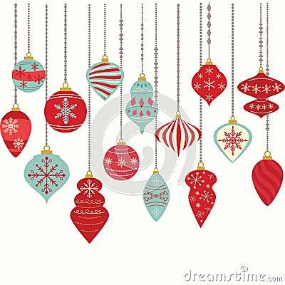 Free Christmas Ornaments,Christmas Balls Decorations,Christmas Hanging Decoration Set Stock Image - 74900481