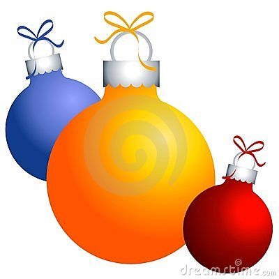 Christmas Ornaments on Christmas Ornaments Clip Art Stock Image   Image  3765881