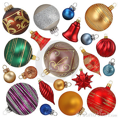 Free Christmas Ornaments Collection Stock Photos - 6804833