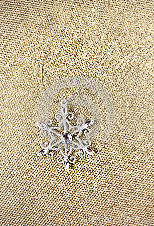 Christmas Ornaments on Elegant Gold Christmas background. Festiv
