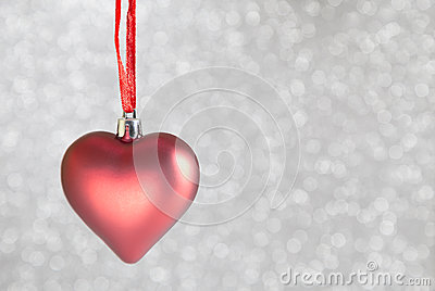 Christmas ornaments heart shaped