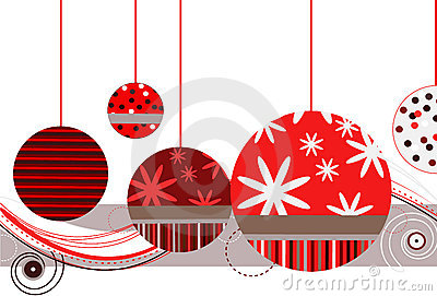 Christmas Ornaments in Red