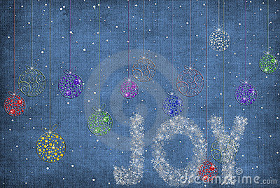 Christmas ornaments in snowflakes