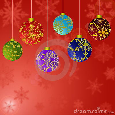 Christmas Ornaments Snowflakes Background 2