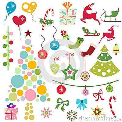 Free Christmas Ornaments Vector Royalty Free Stock Photos - 7237798