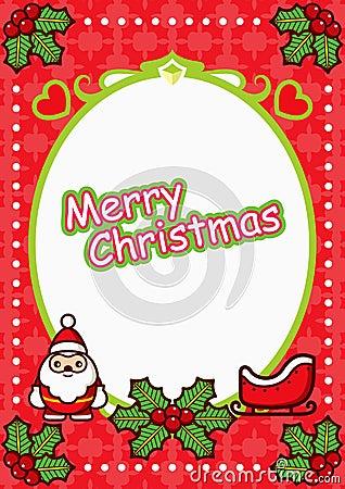 Christmas Oval Frame